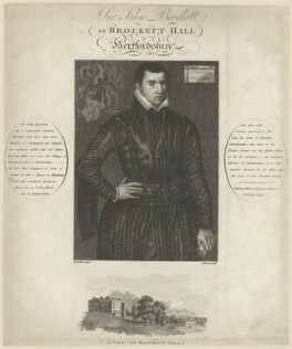 Sir John Brockett, by G. Barrett, published by  John Paul Manson, after  Anthonis Mor (Antonio Moro) - NPG D32161