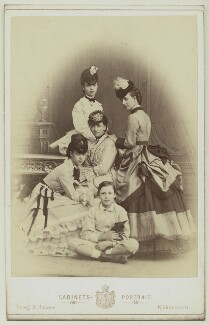 Louise, Queen of Denmark with her children, by Georg Emil Hansen, circa 1870 - NPG x33510 - © National Portrait Gallery, London