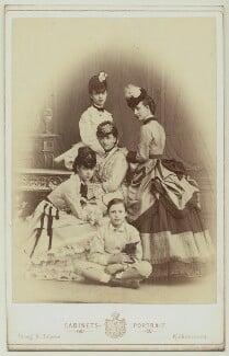 Louise, Queen of Denmark with her children, by Georg Emil Hansen, circa 1870 - NPG x33510 - © National Portrait Gallery, London
