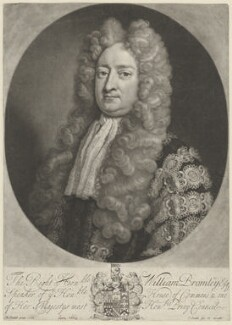 William Bromley, by and published by John Smith, after  Michael Dahl - NPG D32168