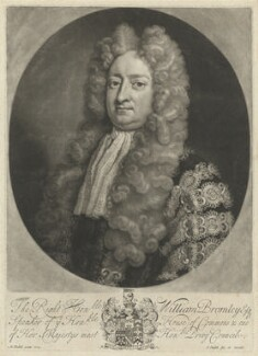 William Bromley, by and published by John Smith, after  Michael Dahl - NPG D32169