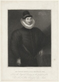 Fulke Greville, 1st Baron Brooke of Beauchamps Court, by Edward Scriven, after  Unknown artist - NPG D32175