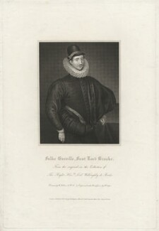Fulke Greville, 1st Baron Brooke of Beauchamps Court, by Robert Cooper, after  William Hilton, after  Unknown artist - NPG D32177