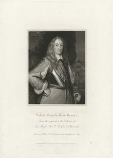 Robert Greville, 2nd Baron Brooke of Beauchamps Court, by William Thomas Fry, after  William Hilton, after  Unknown artist - NPG D32178