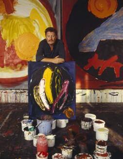 John Hoyland, by Tim Mercer - NPG x131202