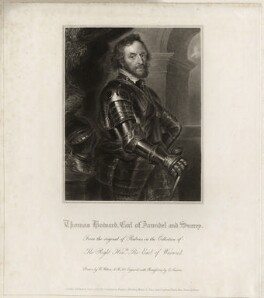 Thomas Howard, 14th Earl of Arundel, by Edward Scriven, after  Sir Peter Paul Rubens - NPG D26504