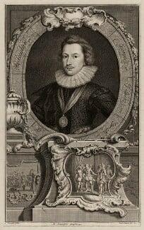 George Villiers, 1st Duke of Buckingham, by Jacobus Houbraken, after  Cornelius Johnson (Cornelius Janssen van Ceulen) - NPG D26510