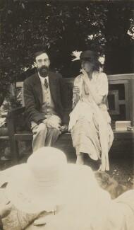 Lytton Strachey; Virginia Woolf, by Lady Ottoline Morrell - NPG Ax13012