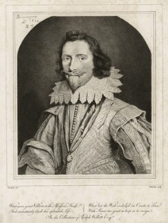 George Villiers, 1st Duke of Buckingham, by William Baillie, after  Daniel Mytens - NPG D26512