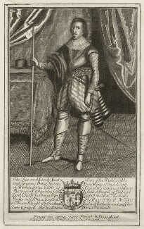 George Villiers, 1st Duke of Buckingham, published by William Richardson, after  Martin Droeshout - NPG D26516