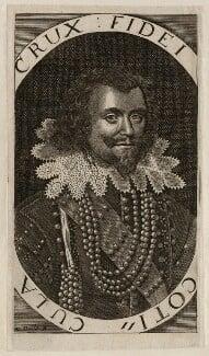 George Villiers, 1st Duke of Buckingham, by Walter Dolle, after  Cornelius Johnson (Cornelius Janssen van Ceulen) - NPG D26520