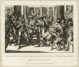 The assassination of George Villiers, 1st Duke of Buckingham by John Felton, by Richard Sawyer - NPG D26521