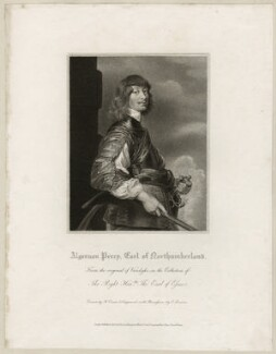Algernon Percy, 10th Earl of Northumberland, by Edward Scriven, after  Sir Anthony van Dyck - NPG D26524