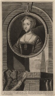 Jane Seymour, by Cornelis Martinus Vermeulen, after  Adriaen van der Werff, after  Hans Holbein the Younger - NPG D9086