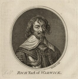 Robert Rich, 2nd Earl of Warwick, by Thomas Chambers (Chambars) - NPG D26531