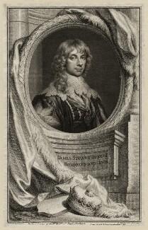 James Stuart, 1st Duke of Richmond and 4th Duke of Lennox, by Jacobus Houbraken, published by  John & Paul Knapton, after  Sir Anthony van Dyck - NPG D26540