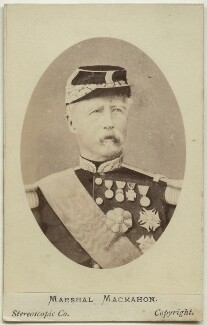 Marie Edme Patrice Maurice de Mac-Mahon, Duke of Magenta, by London Stereoscopic & Photographic Company - NPG Ax46225