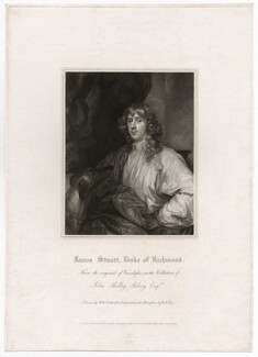 James Stuart, 1st Duke of Richmond and 4th Duke of Lennox, by William Thomas Fry, published by  Lackington, Allen & Co, published by  Longman, Hurst, Rees, Orme & Brown, after  Robert William Satchwell, after  Sir Anthony van Dyck - NPG D26542