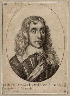 James Stuart, 1st Duke of Richmond and 4th Duke of Lennox, by Wenceslaus Hollar - NPG D26548