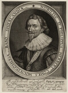 Philip Herbert, 4th Earl of Pembroke, by Robert van Voerst, published by  William Webb, after  Daniel Mytens - NPG D26550