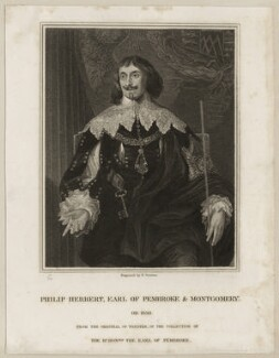 Philip Herbert, 4th Earl of Pembroke, by Edward Scriven, after  Sir Anthony van Dyck - NPG D26555