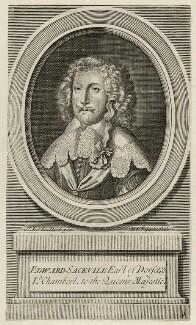 Edward Sackville, 4th Earl of Dorset, by Michael Vandergucht, after  Sir Anthony van Dyck - NPG D26564