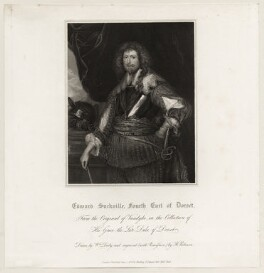 Edward Sackville, 4th Earl of Dorset, by John Henry Robinson, published by  Harding & Lepard, after  William Derby - NPG D26567
