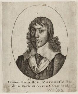 James Hamilton, 1st Duke of Hamilton, by Wenceslaus Hollar - NPG D26580