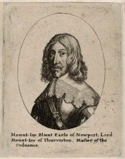 Mountjoy Blount, 1st Earl of Newport, by Wenceslaus Hollar - NPG D26585
