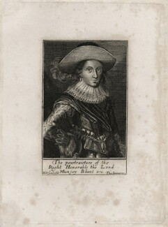 Mountjoy Blount, 1st Earl of Newport, by Martin Droeshout, published by  Thomas Jenner - NPG D26586