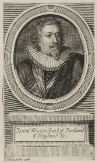 Richard Weston, 1st Earl of Portland, possibly by George Vertue, after  Sir Anthony van Dyck - NPG D26588