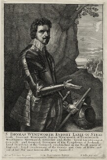 Thomas Wentworth, 1st Earl of Strafford, by Wenceslaus Hollar, after  Sir Anthony van Dyck - NPG D26591