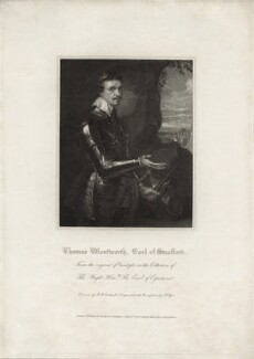 Thomas Wentworth, 1st Earl of Strafford, by John Samuel Agar, published by  Lackington, Allen & Co, published by  Longman, Hurst, Rees, Orme & Brown, after  Robert William Satchwell, after  Sir Anthony van Dyck - NPG D26593