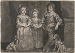 Three Eldest Children of Charles I, by Richard Purcell (H. Fowler, Charles or Philip Corbutt), after  Sir Anthony van Dyck - NPG D9088