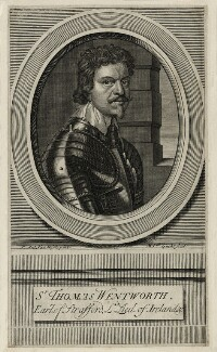 Thomas Wentworth, 1st Earl of Strafford, by Michael Vandergucht, after  Sir Anthony van Dyck - NPG D26595