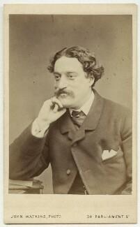 Edmund Hodgson Yates, by John Watkins - NPG x13298
