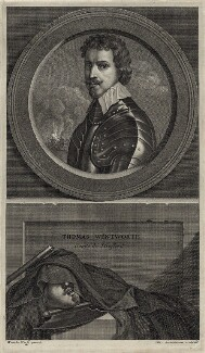 Thomas Wentworth, 1st Earl of Strafford, by Charles Louis Simonneau (Simoneau), after  Sir Anthony van Dyck - NPG D26607