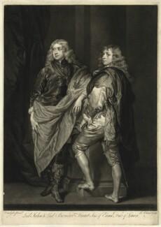 Lord John Stuart; Lord Bernard Stuart, by James Macardell, after  Sir Anthony van Dyck, mid 18th century (circa 1638) - NPG D26617 - © National Portrait Gallery, London