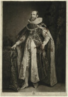 Henry Danvers, Earl of Danby, by Valentine Green, published by  John Boydell, after  Josiah Boydell, after  Sir Anthony van Dyck - NPG D26618