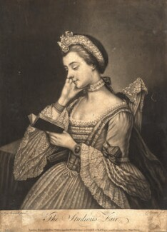 The Studious Fair (possibly Charlotte of Mecklenburg-Strelitz), by Charles Spooner, after  Mary Benwell (Mrs Code) - NPG D9113