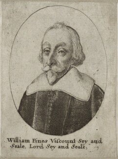 William Fiennes, 1st Viscount Saye and Sele, by Wenceslaus Hollar - NPG D26628
