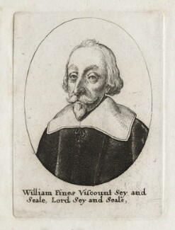 William Fiennes, 1st Viscount Saye and Sele, by Wenceslaus Hollar - NPG D26629