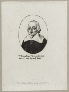 William Fiennes, 1st Viscount Saye and Sele, after Wenceslaus Hollar, published by  William Richardson - NPG D26630