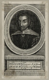 William Fiennes, 1st Viscount Saye and Sele, possibly by Michael Vandergucht - NPG D26632