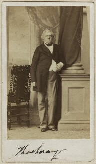 William Makepeace Thackeray, by Caldesi, Blanford & Co, early 1860s - NPG x12962 - © National Portrait Gallery, London
