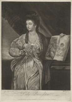 Mary (née Hill), Lady Broughton-Delves, by James Wilson, after  Sir Joshua Reynolds - NPG D32211