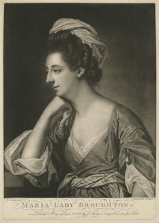 Maria (née Wicker), Lady Broughton, by John Finlayson, after  Francis Cotes - NPG D32213