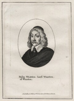 Philip Wharton, 4th Baron Wharton, after Wenceslaus Hollar, published by  William Richardson - NPG D26642