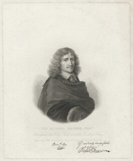 Sir Richard Browne, Bt, by Philipp Audinet, after  Robert Nanteuil - NPG D32227