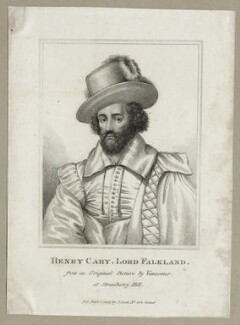 Henry Cary, 1st Viscount Falkland, published by John Scott - NPG D26671
